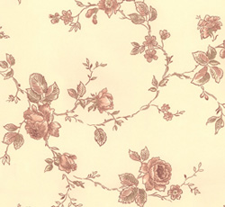 Wallpaper - Rosen yellow/maroon