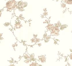 Wallpaper - Rosen white/yellow