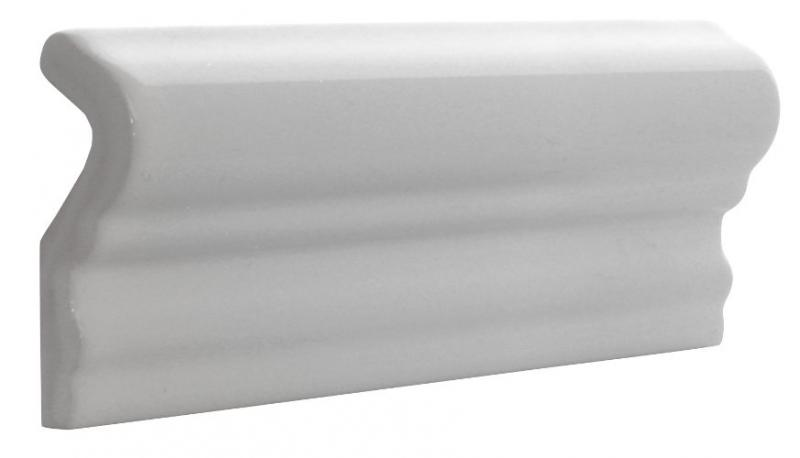 Tile Victoria - Tile molding 5 x 15 cm white, glossy