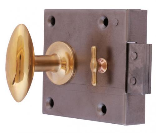 Chamber lock - Brass knob Låsbolaget 3 - old fashioned style - vintage style - classic style