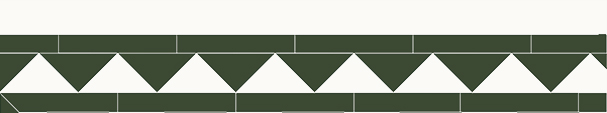 Tile border - Winckelmans 150 mm  green/white