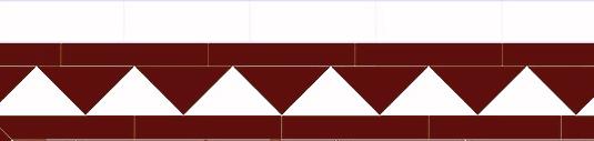 Tile border - Winckelmans 150 mm black/white