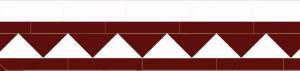 Klinkerfris - Winckelmans 150 mm röd/vit