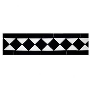 Klinkerfris Winckelmans klassisk, svart/vit