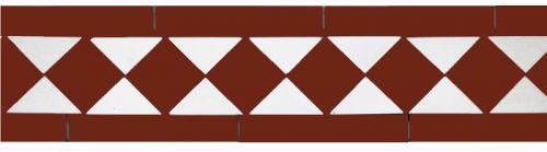 Tile border - Winckelmans classic red/white