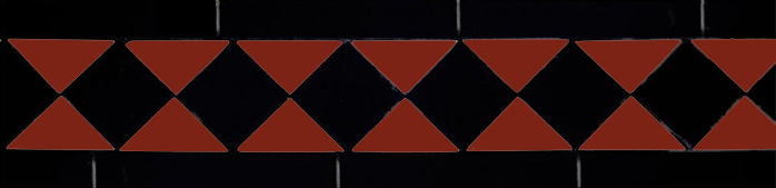 Klinkerfrise - Winckelmans klassisk rød/svart