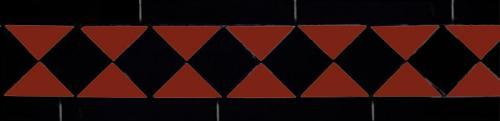Tile border - Winckelmans classic red/black