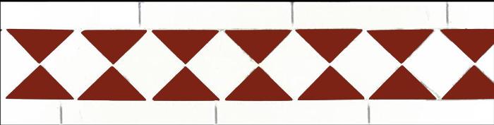 Klinkerfris - Winckelmans klassisk vit/röd