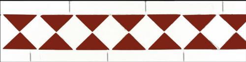 Tile border - Winckelmans classic white/red
