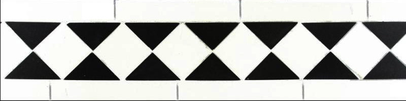 Tile border - Winckelmans classic white/black