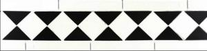 Klinkerfris - Winckelmans klassisk 120 mm vit/svart