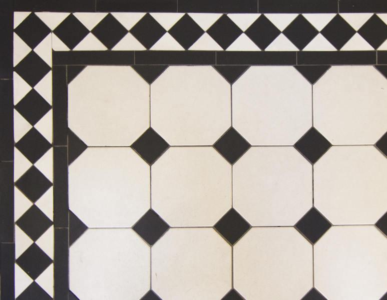 Classic Black White Bathroom Tile Pattern Tile Design Ideas