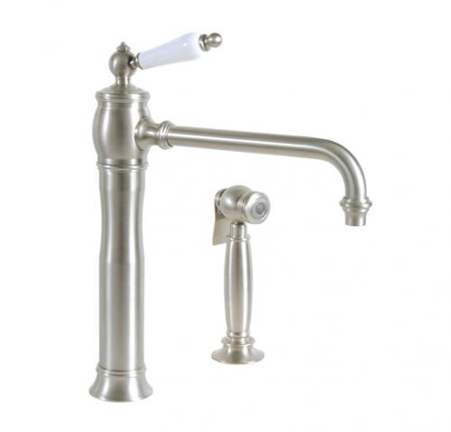 Kitchen mixer - Horus Eloise with hand shower, matte nickel