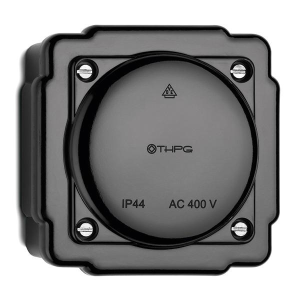 Connection box - Black bakelite IP44