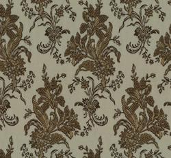 Wallpaper - Liljor beige/gold