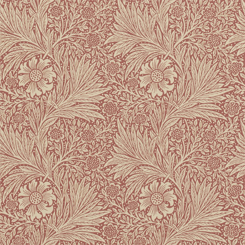 William Morris & Co. Tapet - Marigold Brick - sekelskifte - gammal stil - retro
