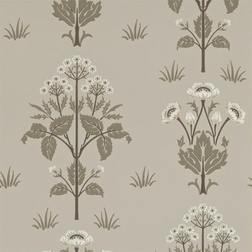 William Morris & Co. Wallpaper - Meadow Sweet Bullrush/Taupe