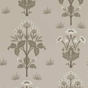 William Morris & Co. Wallpaper - Meadow Sweet Bullrush/Taupe