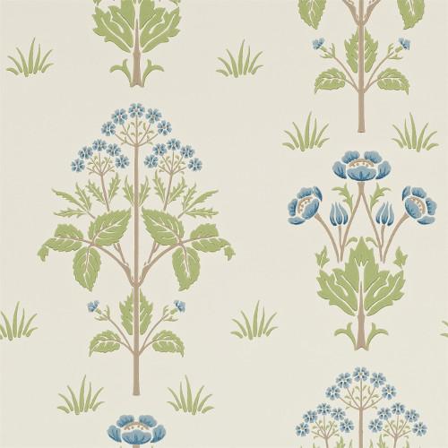 William Morris & Co. Tapet - Meadow Sweet Cornflower/Leaf