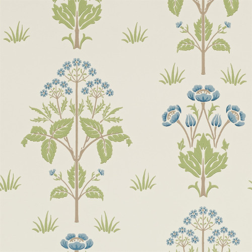 William Morris & Co. Wallpaper - Meadow Sweet Cornflower/Leaf