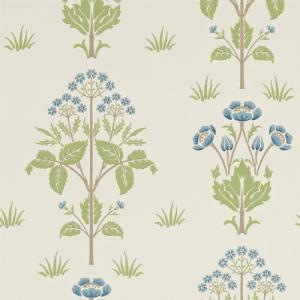 William Morris & Co. Tapet - Meadow Sweet Cornflower/Leaf