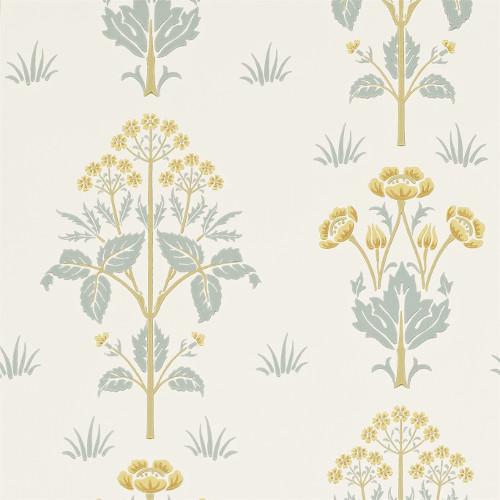 William Morris & Co. Tapet - Meadow Sweet Gold/Slate