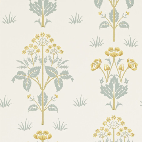 William Morris & Co. Wallpaper - Meadow Sweet Gold/Slate