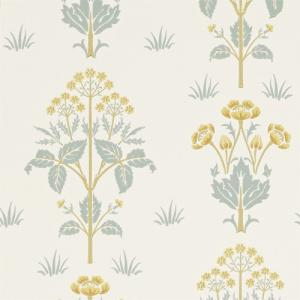 William Morris & Co. Tapet - Meadow Sweet Gold/Slate