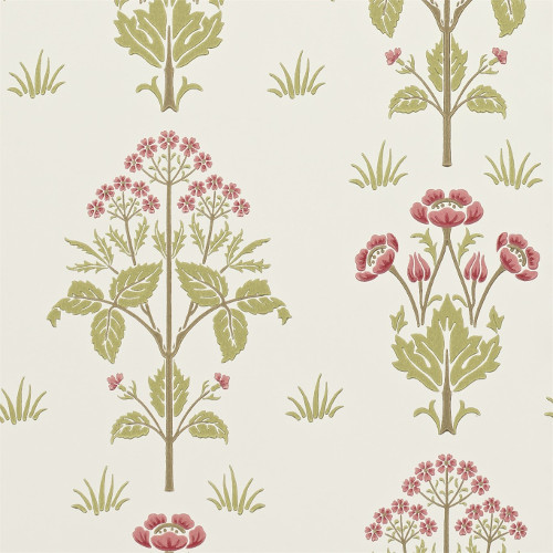 William Morris & Co. Wallpaper - Meadow Sweet Rose/Olive
