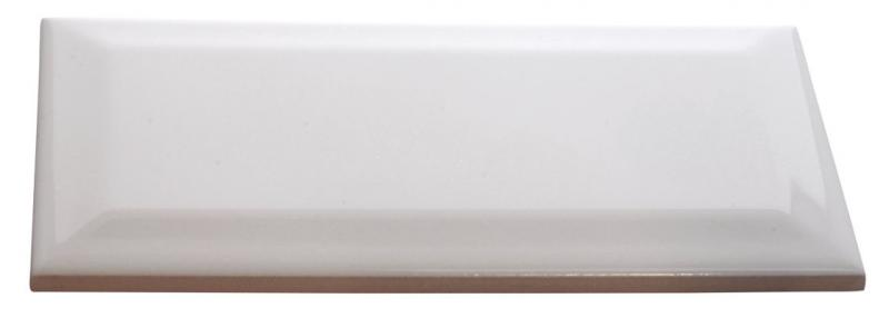 Kakel Victoria - Fasad kant 7,5 x 15 cm vit, blank