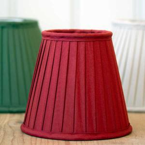 Oldstyle lamp shades pleated fabric red - old style - vintage interior - classic interior - retro