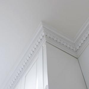 Classic style cornice molding - old fashioned style - vintage interior - classic style - retro