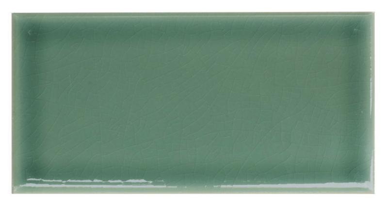 Wall tile Bristol - 7,5 x 15 cm dark green, crackled