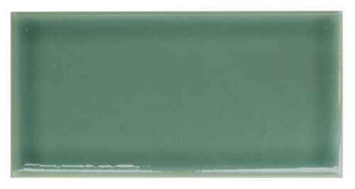 Wall tile Bristol - 7,5 x 15 cm dark green, crackled