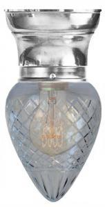 Taklampe - Frödingplafond 80 dråpe kuppel nikkel
