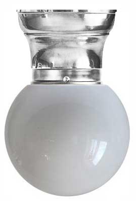 Taklampe - Frödingplafond 80 hvit kuppel nikkel