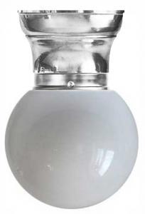 Bowl Lamp - Fröding 80 opal white glass nickel