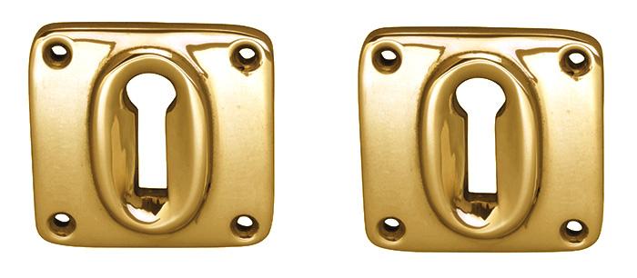 Escutcheon Square - Brass 45 mm
