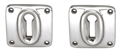 Escutcheon Square - Nickel-plated brass 45 mm