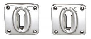 Escutcheon Square - Nickel-plated brass 45 mm