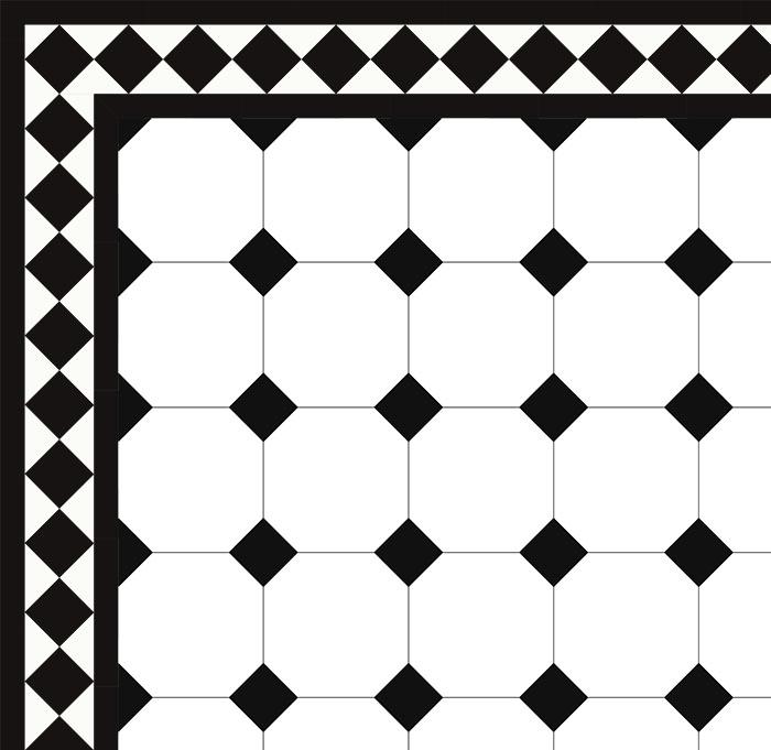 Oktagonklinker 15 X 15 Cm Vit Svart Winckelmans