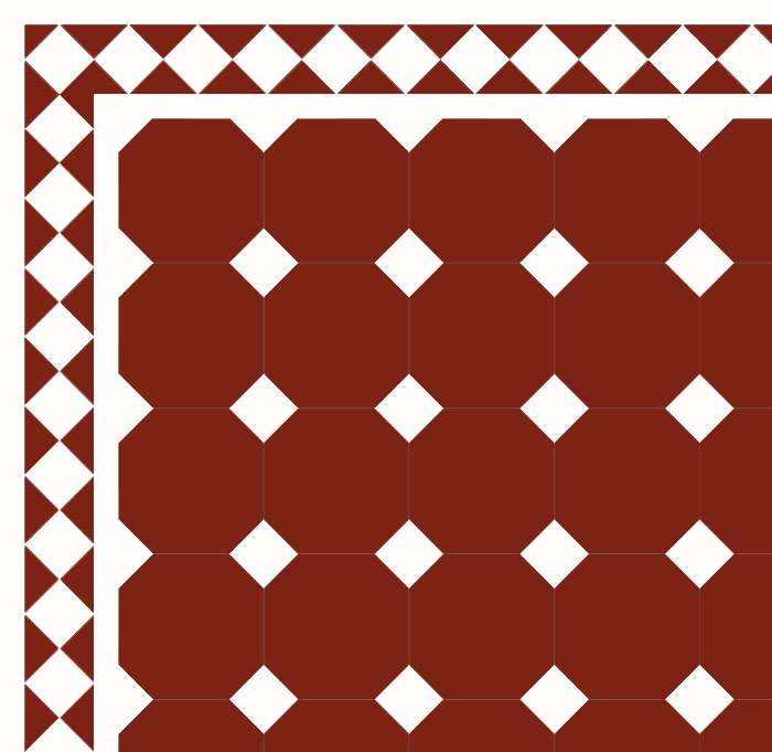Floor Tiles Octagon 15 X Cm Red White