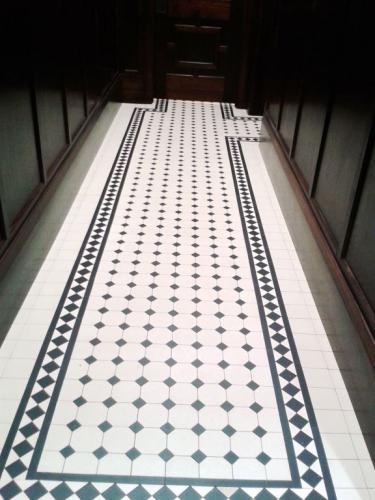Tile border - Winckelmans classic black/white