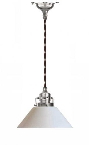Celing Lamp - Craftmans cord pendant nickel small shade