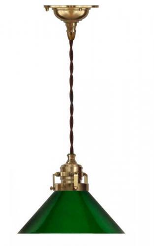 Taklampa - Skomakarsladd, grön skärm