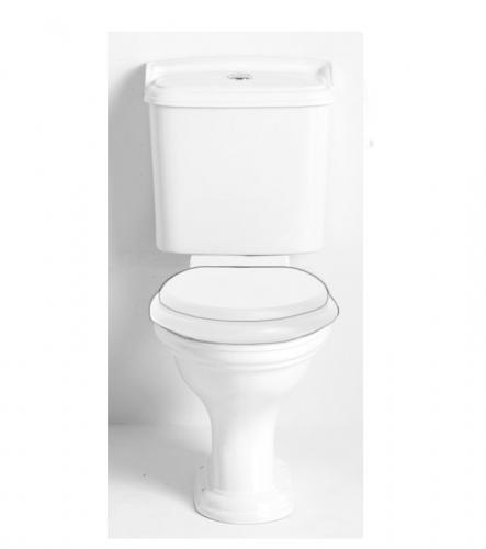 WC - Heritage Dorchester smal cistern, spolknapp krom