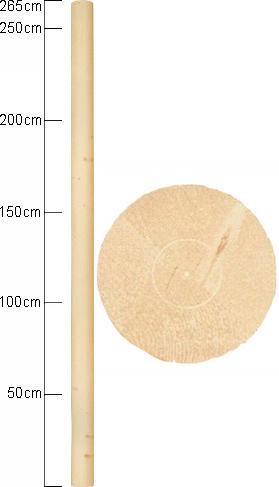 Stolpe - Pelare cylindrisk 125 x 2650 mm - sekelskiftesstil - gammaldags inredning - retro
