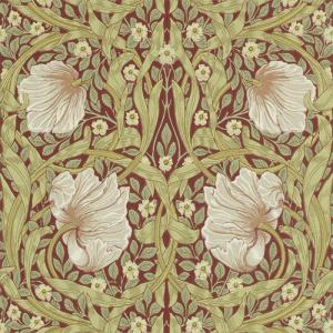 William Morris & Co. Wallpaper - Pimpernel Brick/Olive