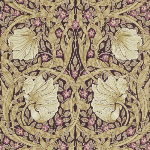 William Morris & Co. Tapet - Pimpernel Fig/Sisal - gammaldags inredning - retro - klassisk inredningsstil