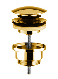 Sink drain assembly - Pop up brass